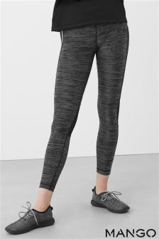 Mango Grey Mesh Legging