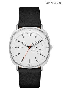 Skagen® Rungstead Leather Strap Watch