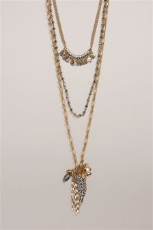 Multi Layer Long Necklace
