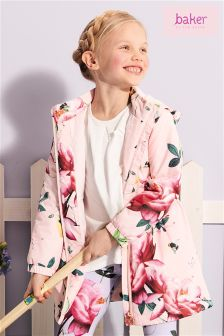 Baker By Ted Baker Younger Girl All Over Floral Printed Coat