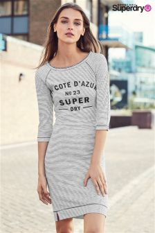 Superdry Cream/Navy Harbour Slouch Crew Dress