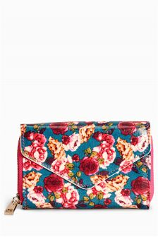 Floral Oil Cloth Purse
