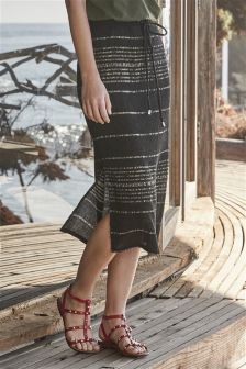Midi Stripe Skirt