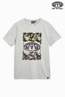Animal Loffy Grey Graphic Tee