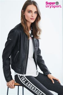 Superdry Black New Malibu Racer Jacket