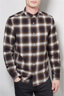 Ombre Check Long Sleeve Shirt