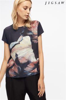Jigsaw Ink Floral T-Shirt