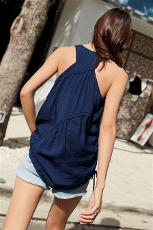 Ruched Detail Vest Top