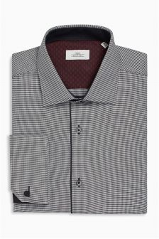 Puppytooth Slim Fit Double Cuff Shirt