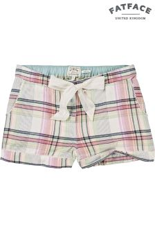 Fat Face Pink Check Short