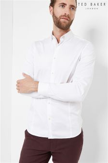 Ted Baker White Plain Poplin Shirt