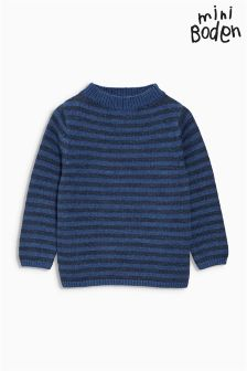 Boden Dark Denim Marl/Denim Marl Stripe Everyday Jumper