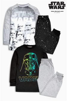 Star Wars™ Glow In The Dark Pyjamas Two Pack (3-12yrs)
