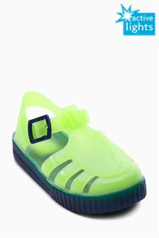 Light Up Jelly Sandals (Younger Boys)