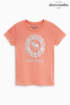 Abercrombie & Fitch Orange Moose Print Tee