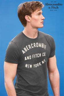 Abercrombie & Fitch Charcoal New York Logo T-Shirt