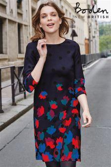Boden Blue Floral Rachel Dress