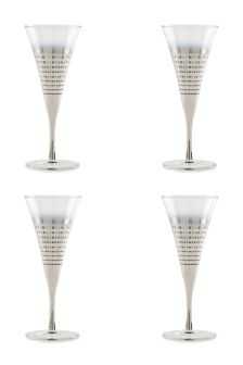 Set Of 4 Silver Ombre Wine Glasses