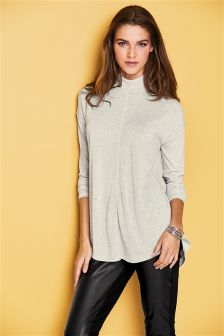 Light Knit High Neck Top