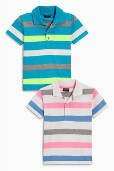 Stripe Polos Two Pack (3mths-6yrs)