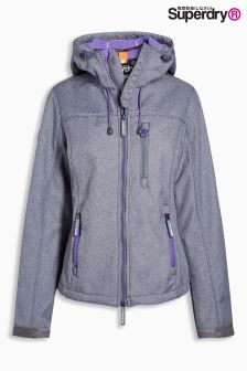 Superdry Storm Marl/Fluro Purple Hooded Windtrekker