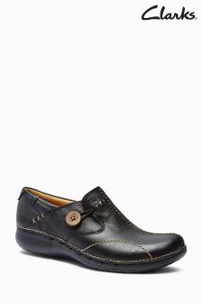Clarks Black Slip-On Shoe
