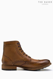 Ted Baker Tan Sealls Three Wingcap Brogue Boot
