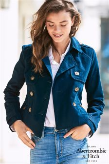 Abercrombie & Fitch Cropped Trench Jacket