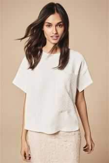 Lace Pocket T-Shirt