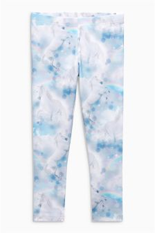 Unicorn Printed Leggings (3-16yrs)
