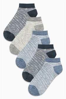 Textured Trainer Socks Five Pack (Older Boys)