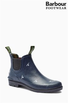Barbour® Navy Chelsea Welly Boot