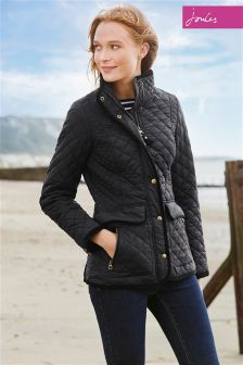 Joules Newdale Black Quilted Jacket