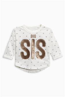 Big Sister Glitter T-Shirt (9mths-6yrs)