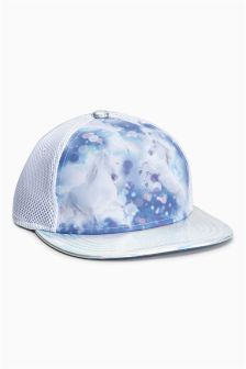 Unicorn Print Cap (Older Girls)