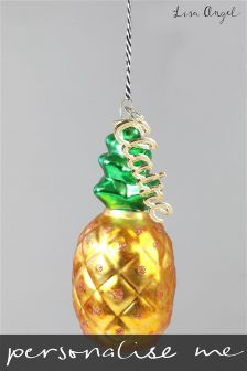 Personalised Pineapple Bauble By Lisa Angel