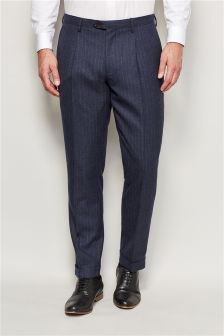 Stripe Flannel Skinny Fit Suit Trousers
