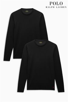 Ralph Lauren Black Long Sleeve T-Shirts Two Pack