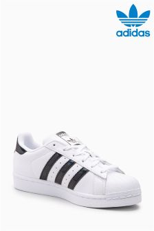 adidas Originals White/Black Sparkle Superstar