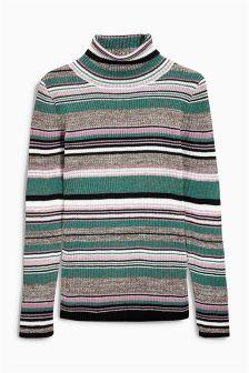 Stripe Sparkle Roll Neck (3-16yrs)