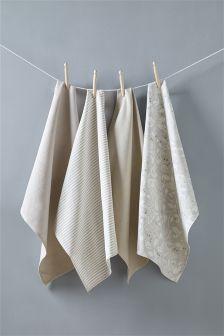 Set Of 4 Song Bird Tea Towels