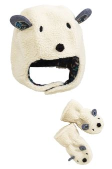 Character Trapper Hat And Mittens Set (Younger Girls)