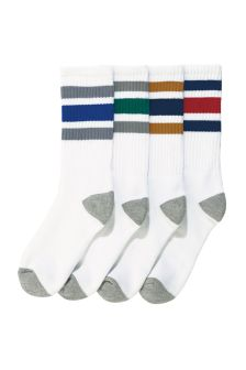Retro Colour Stripe Sports Socks Four Pack