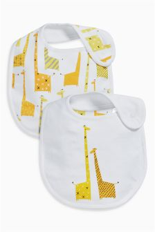 Giraffe Regular Bibs Two Pack