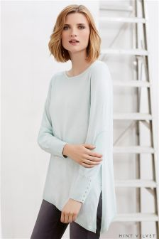 Mint Velvet Asymmetric Side Split Boxy Knit