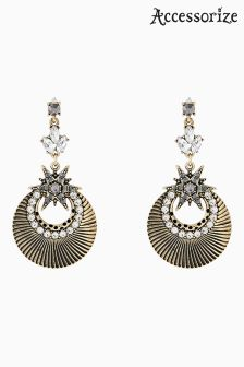 Accessorize Gold Lyra Star Earrings