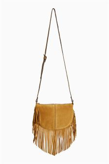 Fringe Saddle Bag