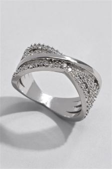 Diamanté Detail Ring