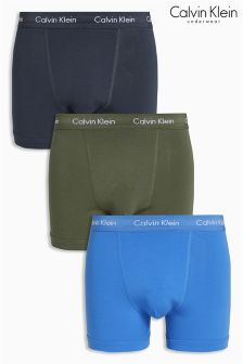 Calvin Klein Navy/Khaki/Blue Trunks Three Pack