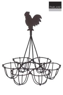Parlane Vintage Style Wire Egg Holder And Chicken Decoration